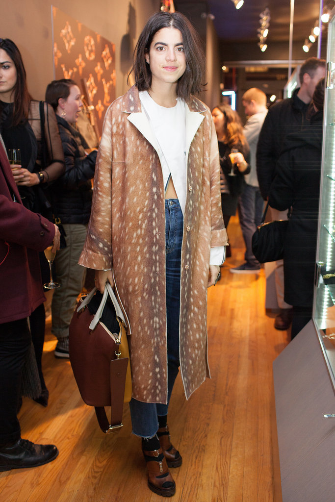 Leandra Medine at LXR & Co.'s flagship store opening in New York.