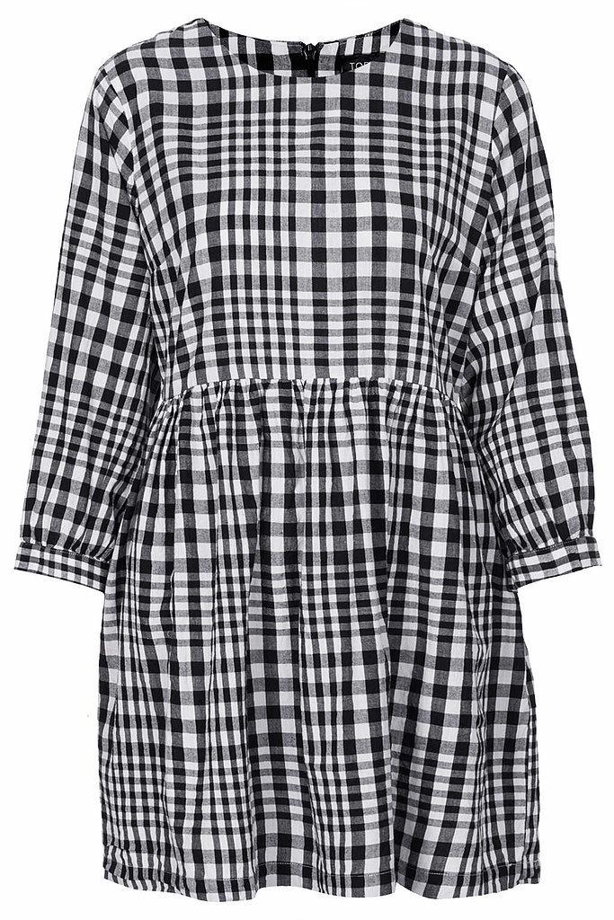 Topshop Gingham Check Smock Dress ($76)