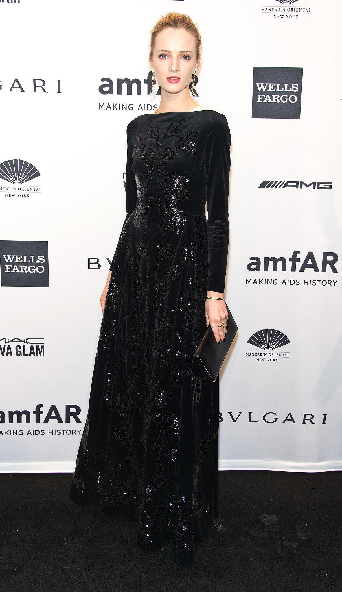Daria Strokous at amfAR's New York Gala.