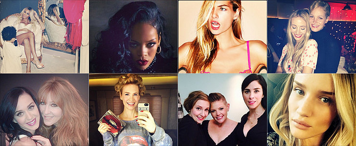 Hollywood Practices Puckering Up For Valentine's Day on Instagram