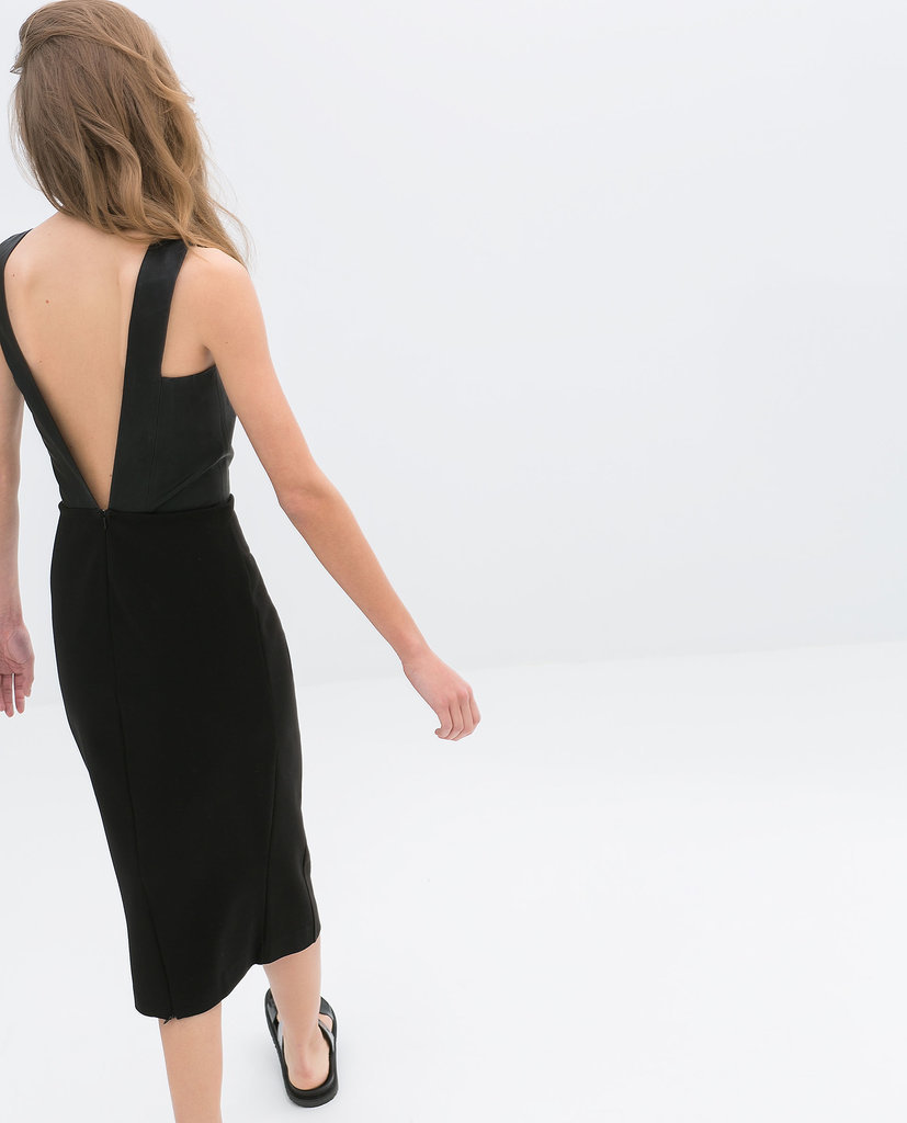 Zara Backless Black Dress ($60)