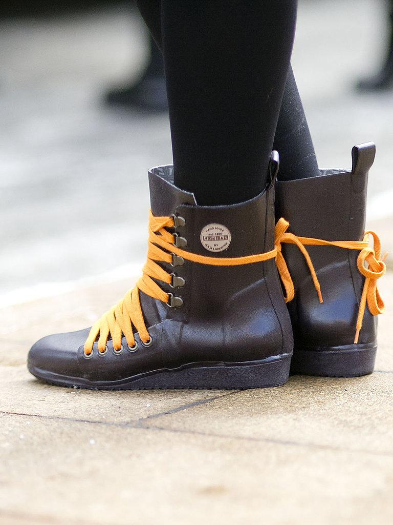 Part rain boot, part sneaker, all parts cool.  Source: Tim Regas