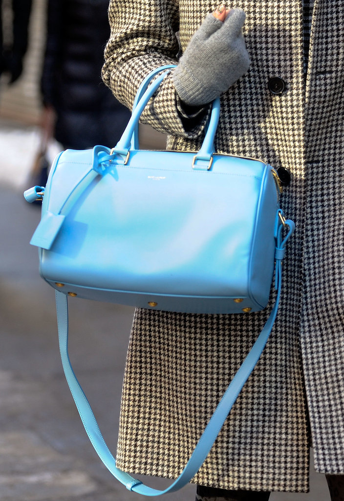 A literal bright spot in the Fashion Week crowd.
