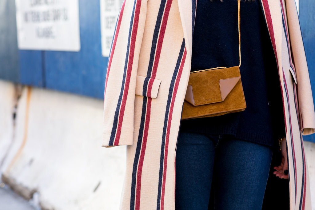 A perfect mix of the classics — red, white, blue, and camel.