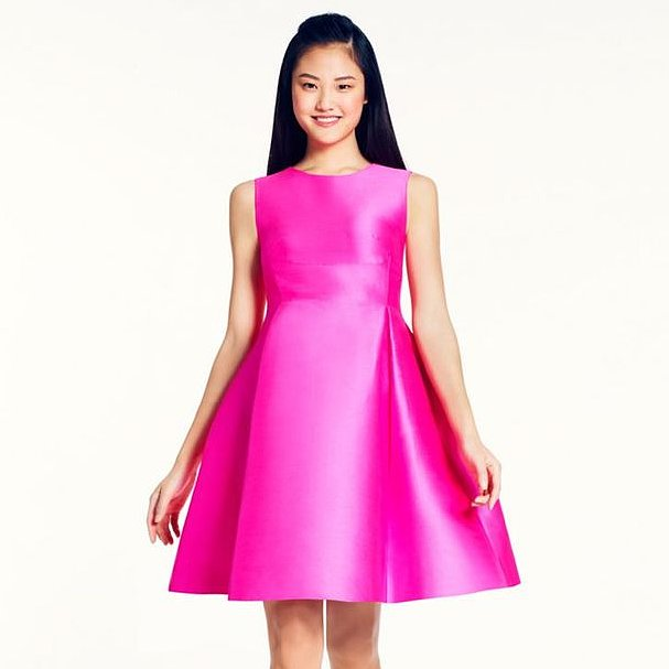 Kate Spade Pink Roset Fit and Flare Dress Review