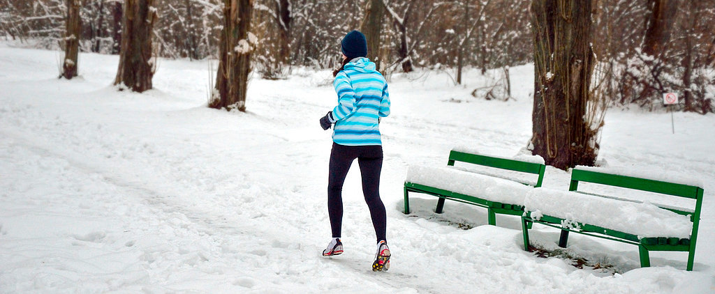 Girl Takes a Tumble While Running in the Snow — Here's What Not to Do