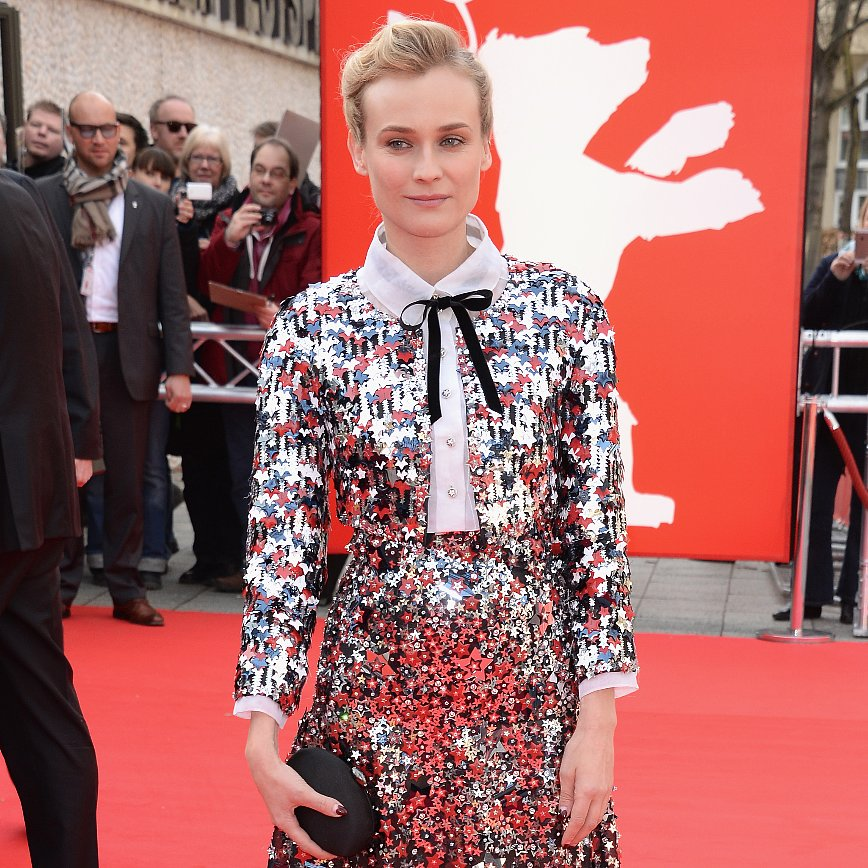 Diane Kruger in Red and Blue Chanel Star Outfit