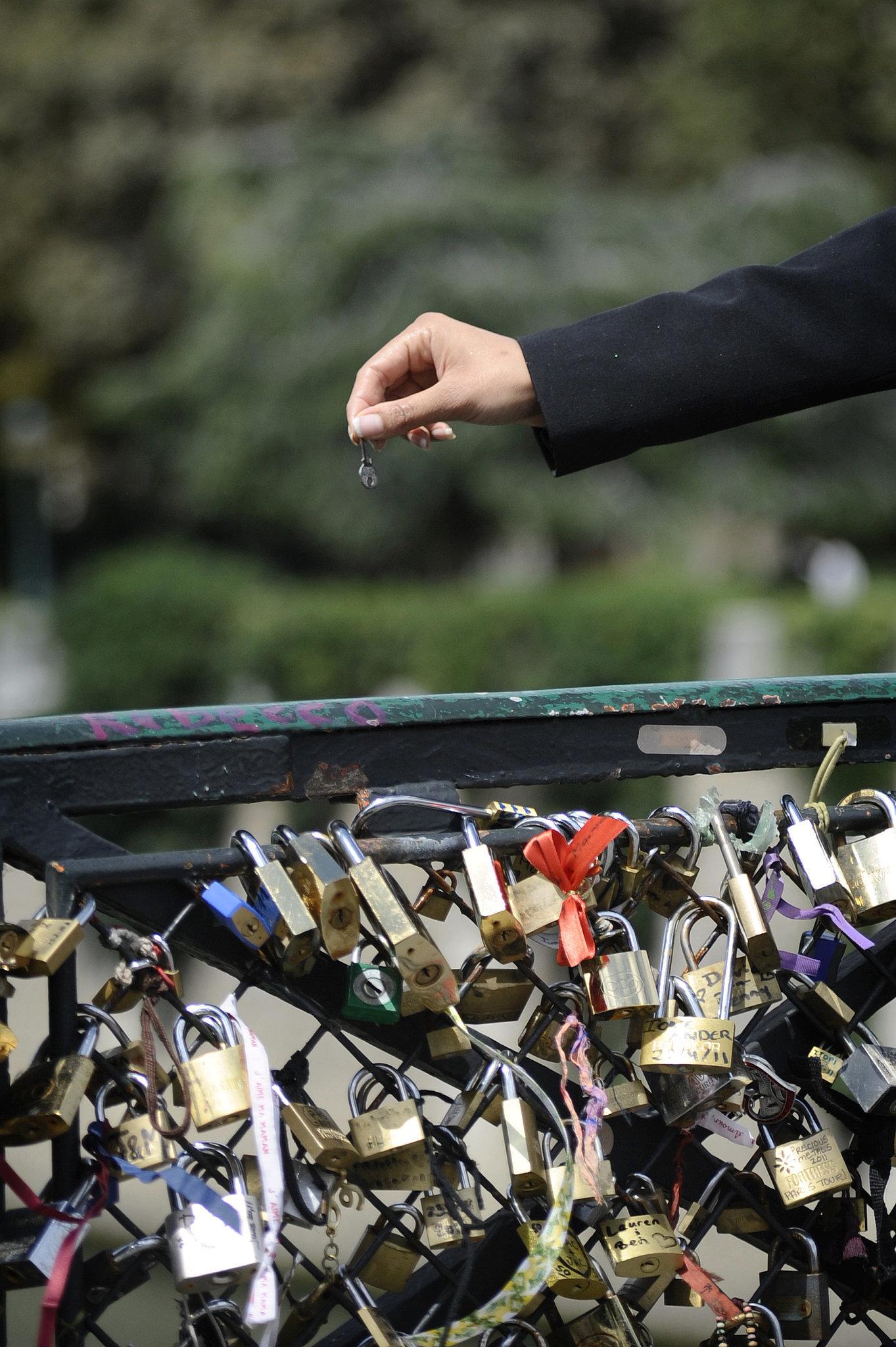 A woman threw away the key on a bridge in Paris.