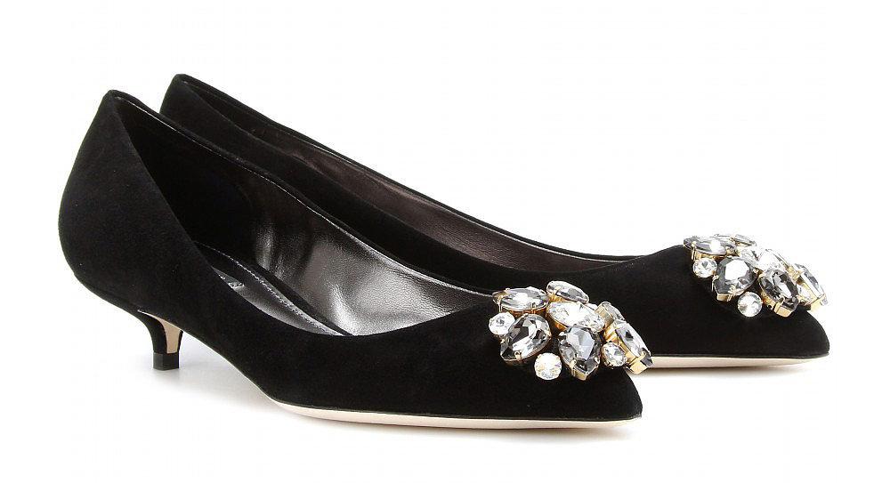 Dolce & Gabbana embellished black kitten heels ($698)