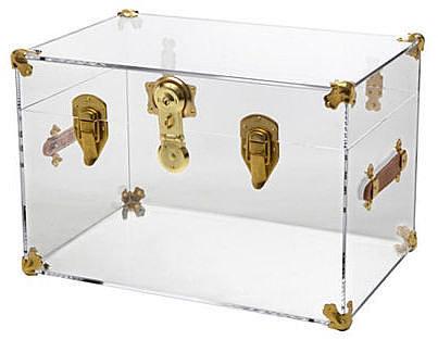 Payton Trunk, Clear/Brass