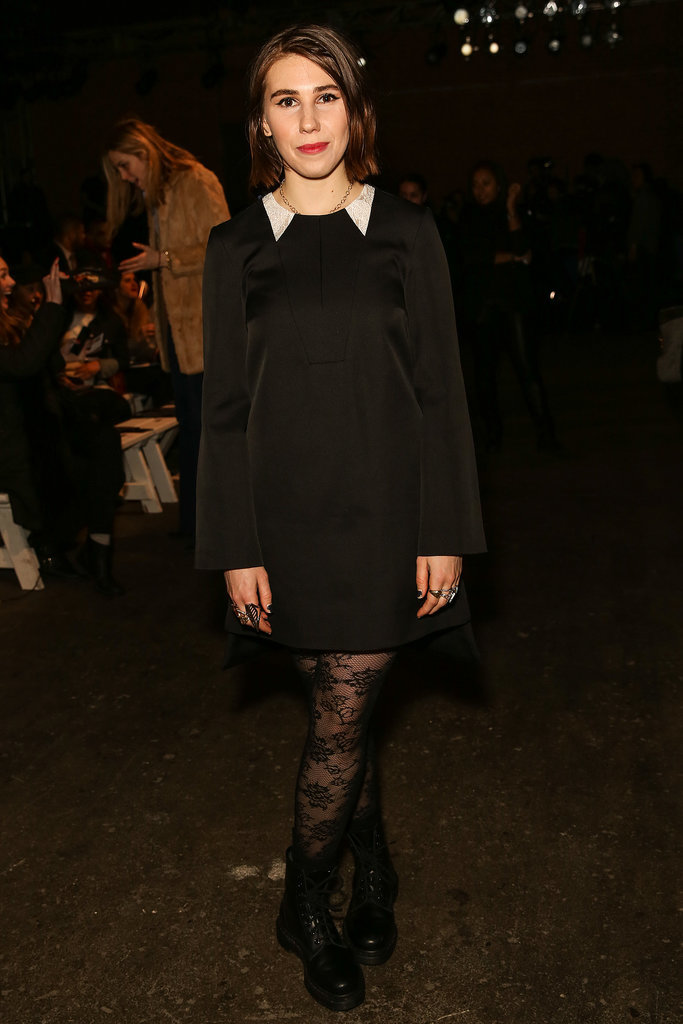 Zosia Mamet wore a black ensemble for Honor's show on Monday.