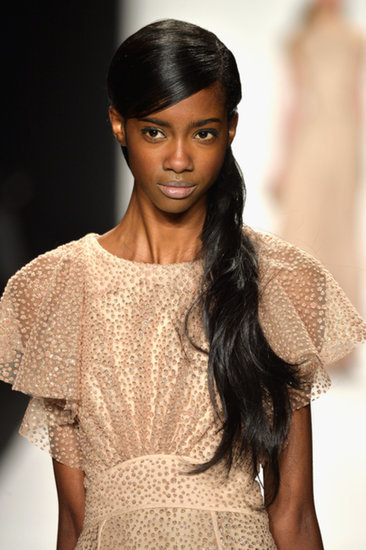 The Makeup at Badgley Mischka Has the Midas Touch