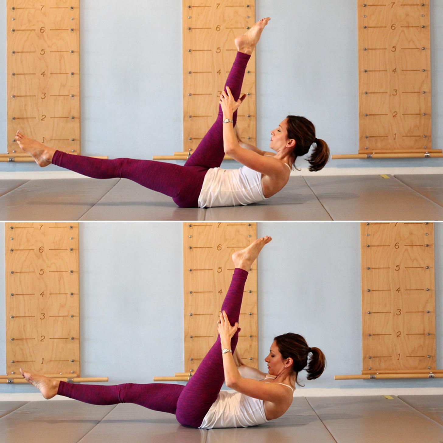 Single Straight-Leg Stretch