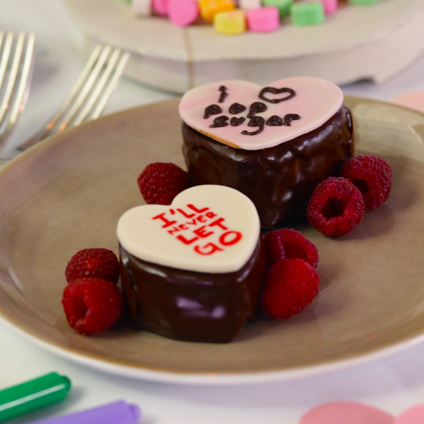 Conversation Heart Chocolate Cakes Recipe | POPSUGAR Food