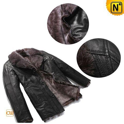 Shearling Sheepskin Coat Jacket Mens CW819068