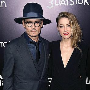 Johnny Depp Kissing Amber Heard at 3 Days to Kill Premiere