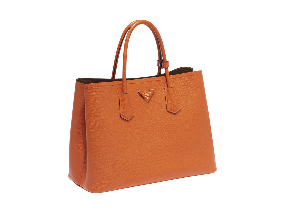 orange prada purse