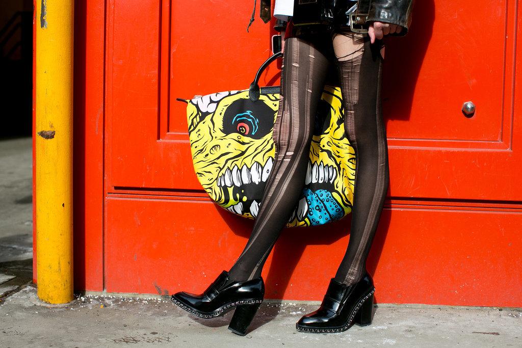 A kooky bag to go with kooky tights.