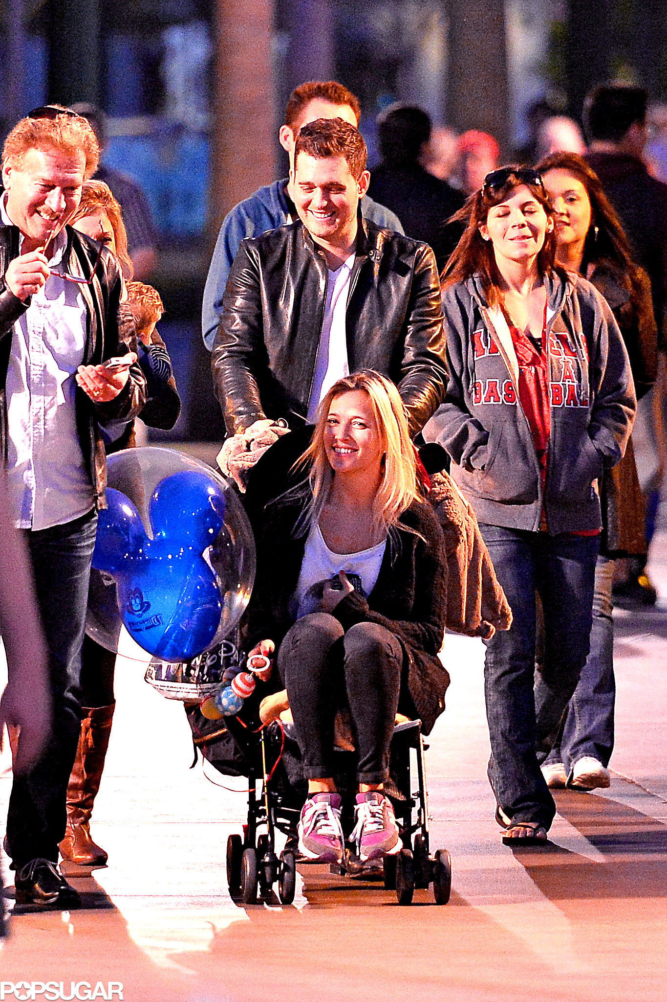 Michael Bublé's Baby, Noah, Meets Mickey!