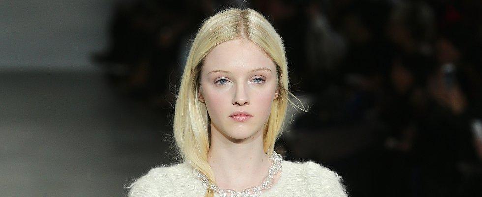 The Calvin Klein Girl Wears Her Hair Tucked In