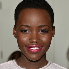 Lupita Nyong'o Colourful Makeup at New York Fashion Week