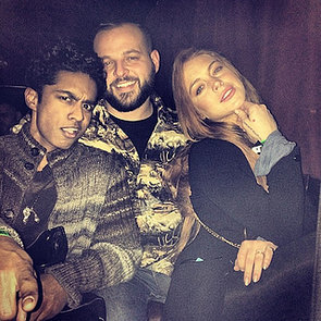 Lindsay Lohan Has a Mean Girls Reunion With Kevin Gnapoor