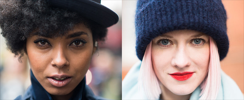LFW Street Style Stars Bring Some Colour to Winter Beauty