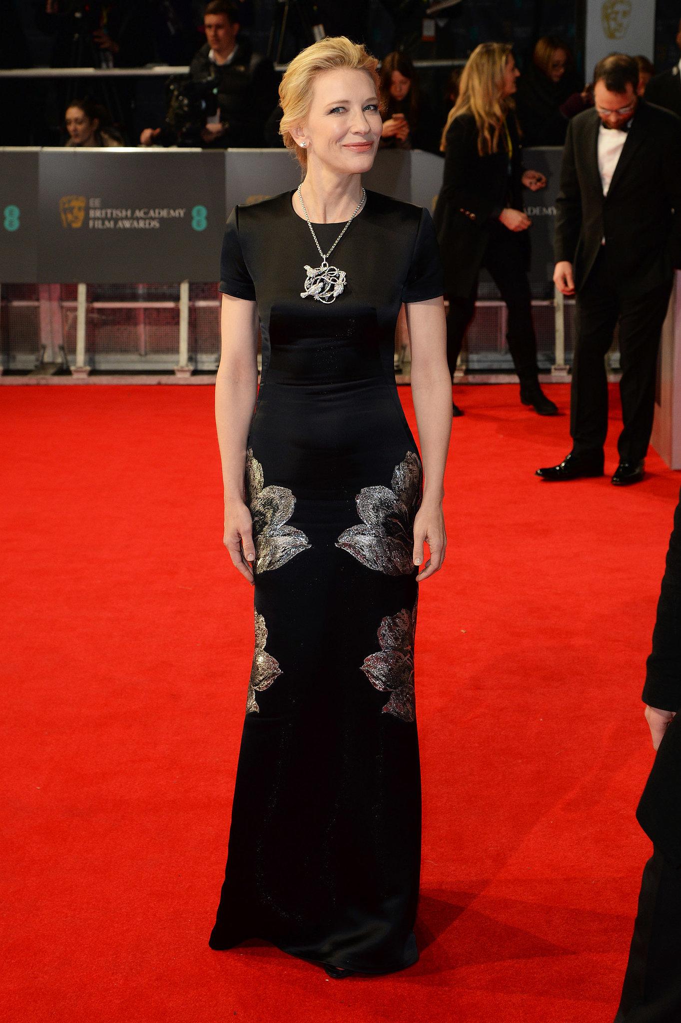 Cate Blanchett on the 2014 BAFTA Red Carpet