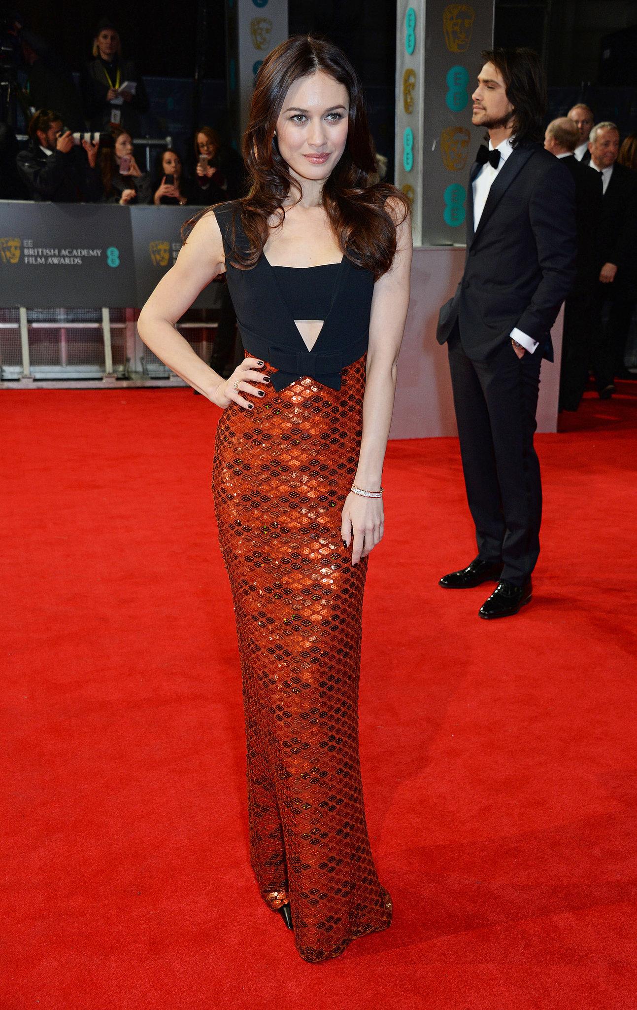 Olga Kurylenko on the 2014 BAFTA Red Carpet