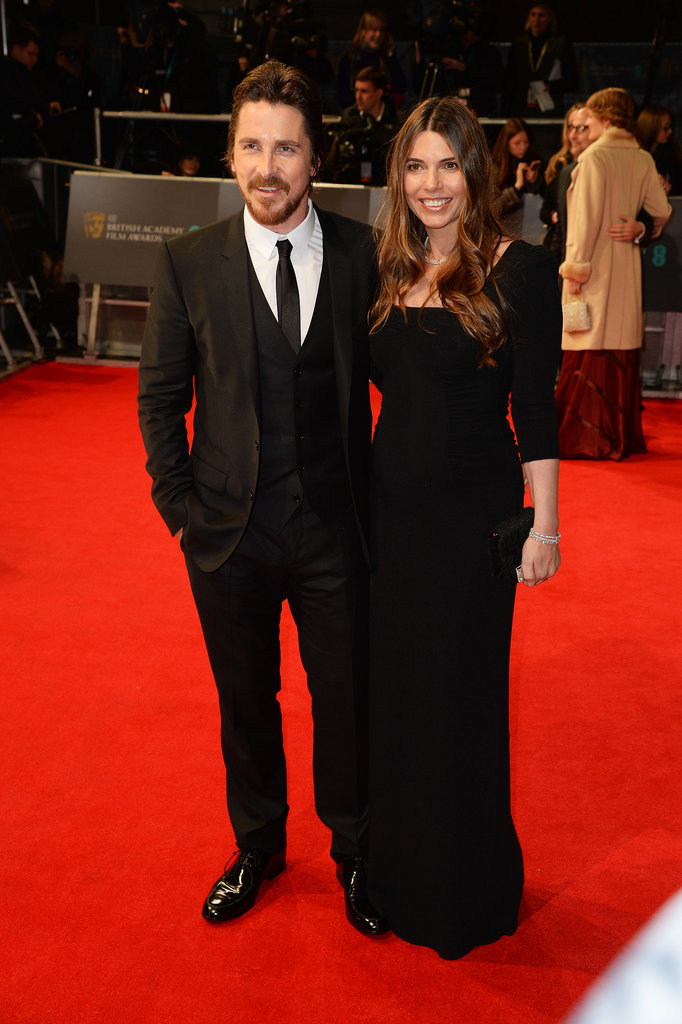 Christian Bale and Sibi Blazic at the 2014 BAFTA Awards.