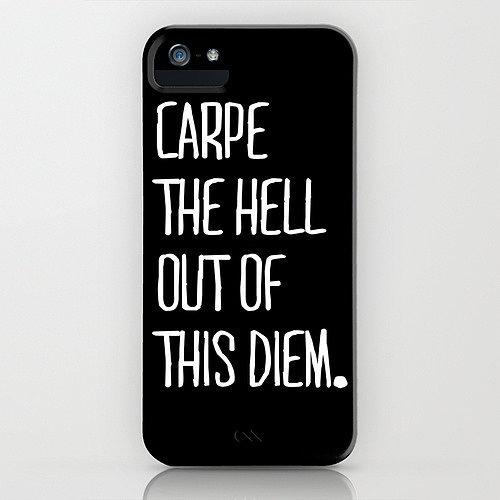 Carpe Diem by Pencil Me In Smartphone Case