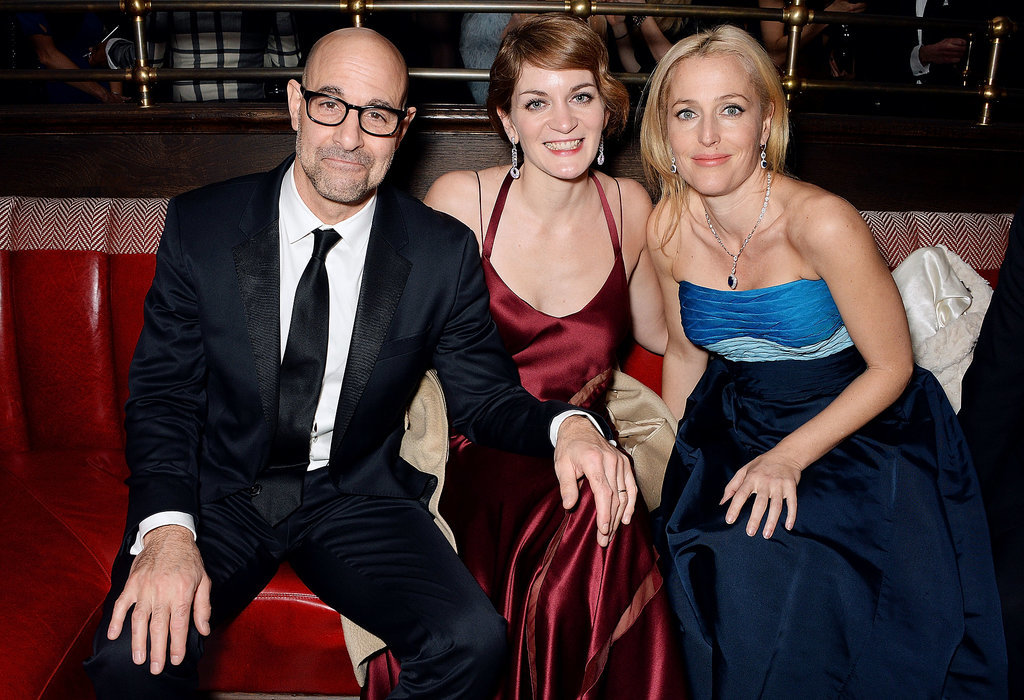 Photo of Gillian Anderson & her friend celebrity  Felicity Blun - England