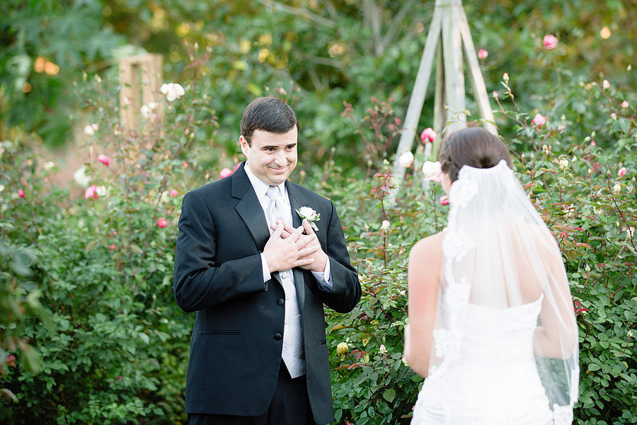 A touching moment.  Photo by Theo Milo Photography via Style Me Pretty