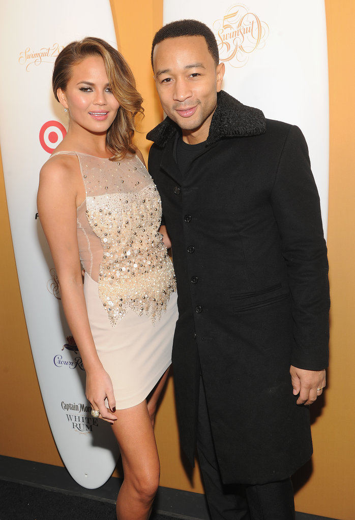 John Legend and Chrissy Teigen posed sweetly.