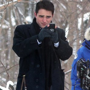 Robert Pattinson With Black Hair For Filming