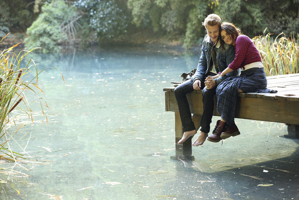"""The new couple heads to a picturesque lake spot in """"Cover For Me."""" Source: ABC Family"""