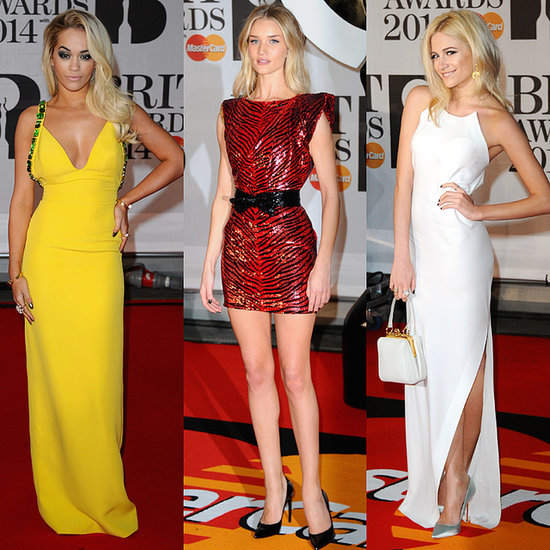 Celebrity Style & Dresses On Red Carpet At 2014 Brit Awards