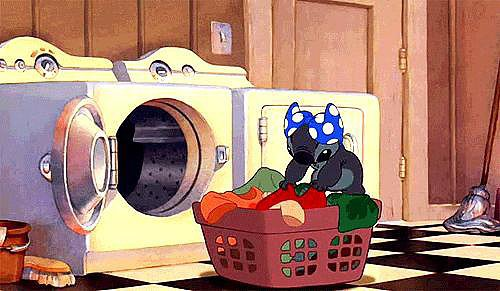 You Find Ways to Entertain Yourself Doing Laundry