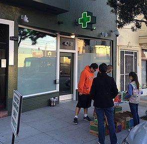 Girl Scout Sells Cookies Outside Marijuana Dispensary