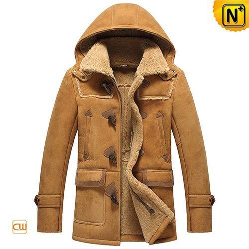 Sheepskin Shearling Jacket with Hood CW877093