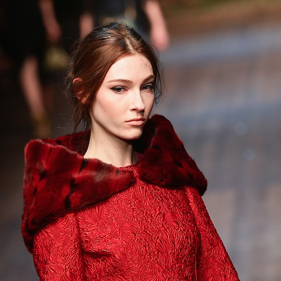Dolce and Gabbana Fall 2014 Hair and Makeup Runway Pictures