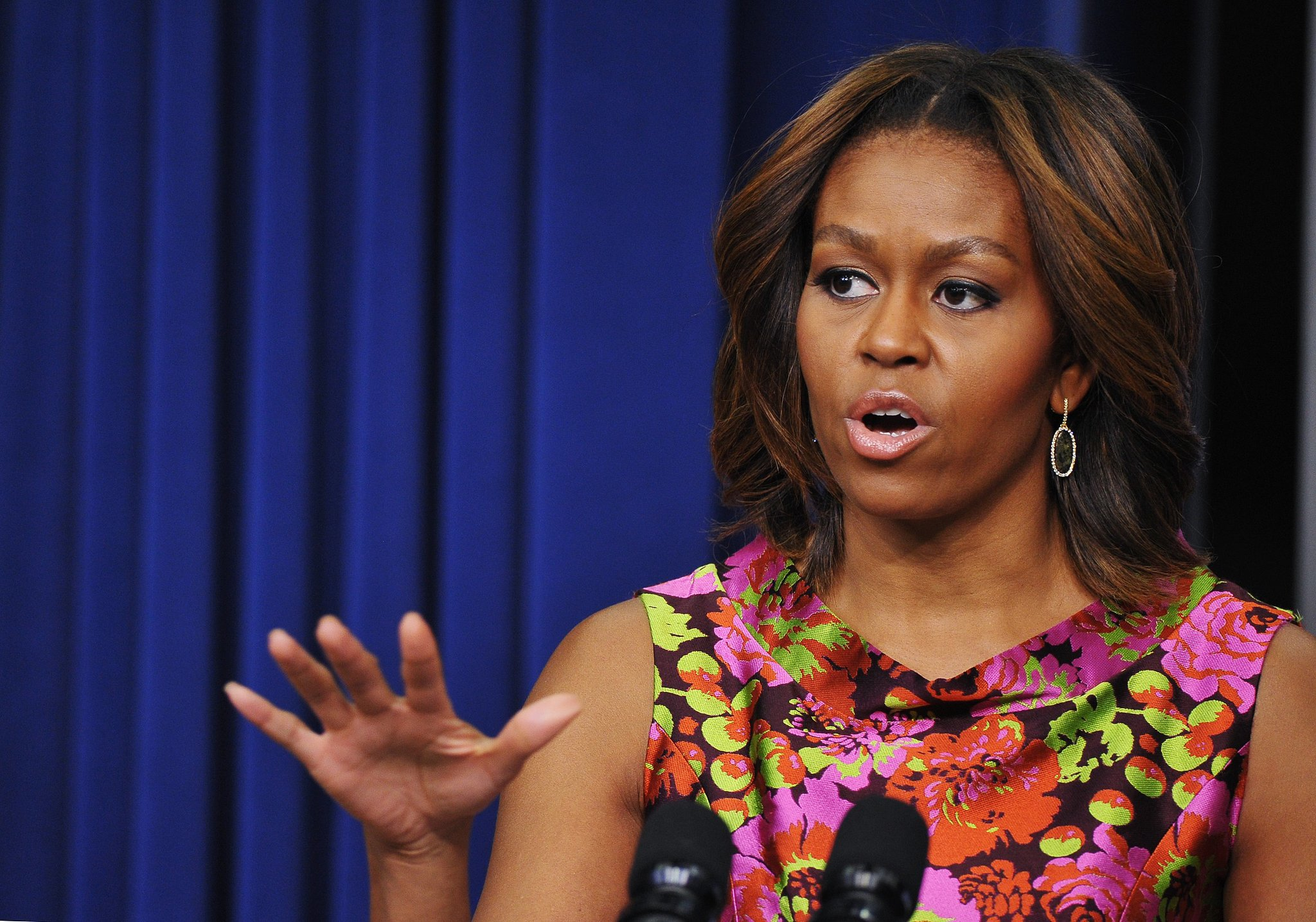 Michelle Obama touched on the importance of Black History Month at the event.