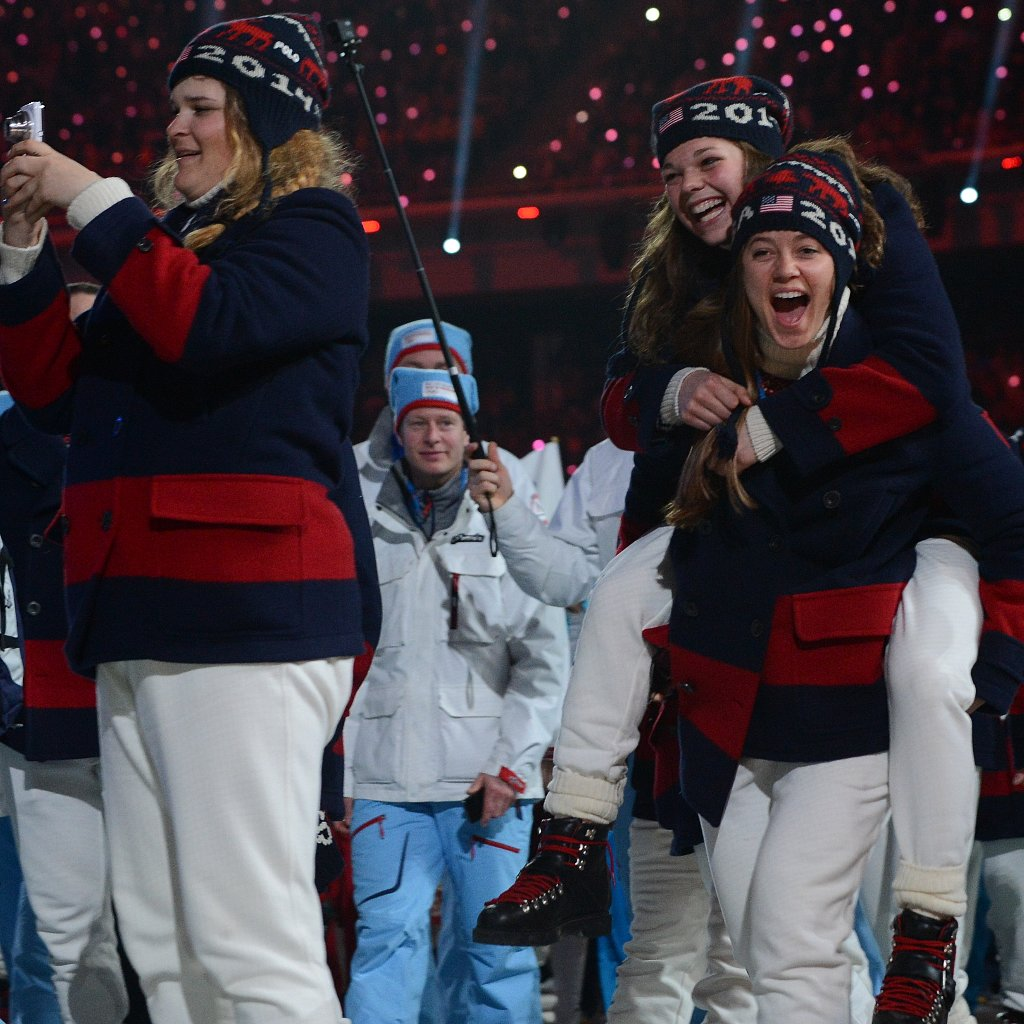 What Americans Wore at the Olympic Closing Ceremony