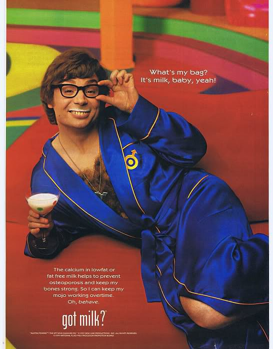 Mike Myers suited up in his Austin Powers gear — yeah, baby!