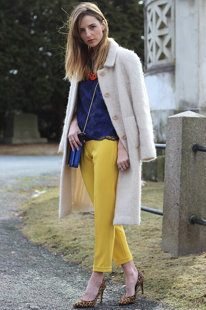 Congrats, JessAnnKirby! Pants that bright will bring a smile to anybody's face!