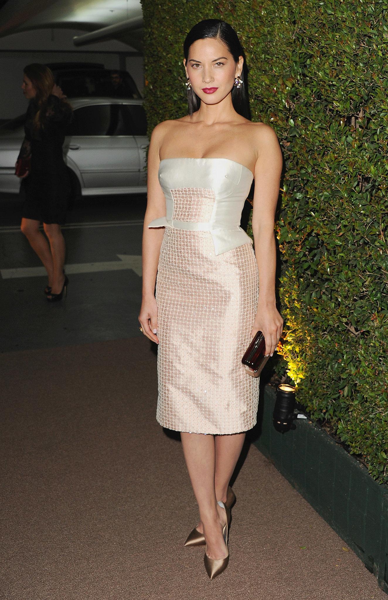 Olivia Munn at the Bulgari Decades of Glamour Oscar Party