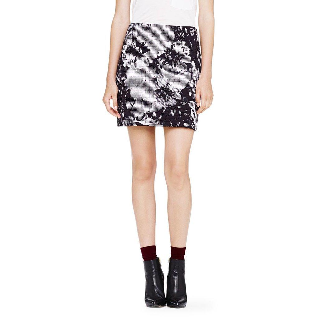 Club Monaco Floral-Print Skirt
