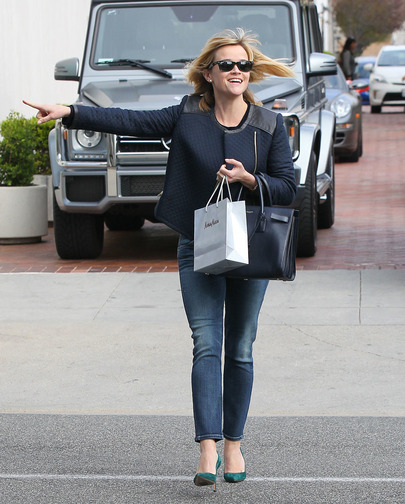 Reese Witherspoon pointed while running errands in Beverly Hills on Wednesday.
