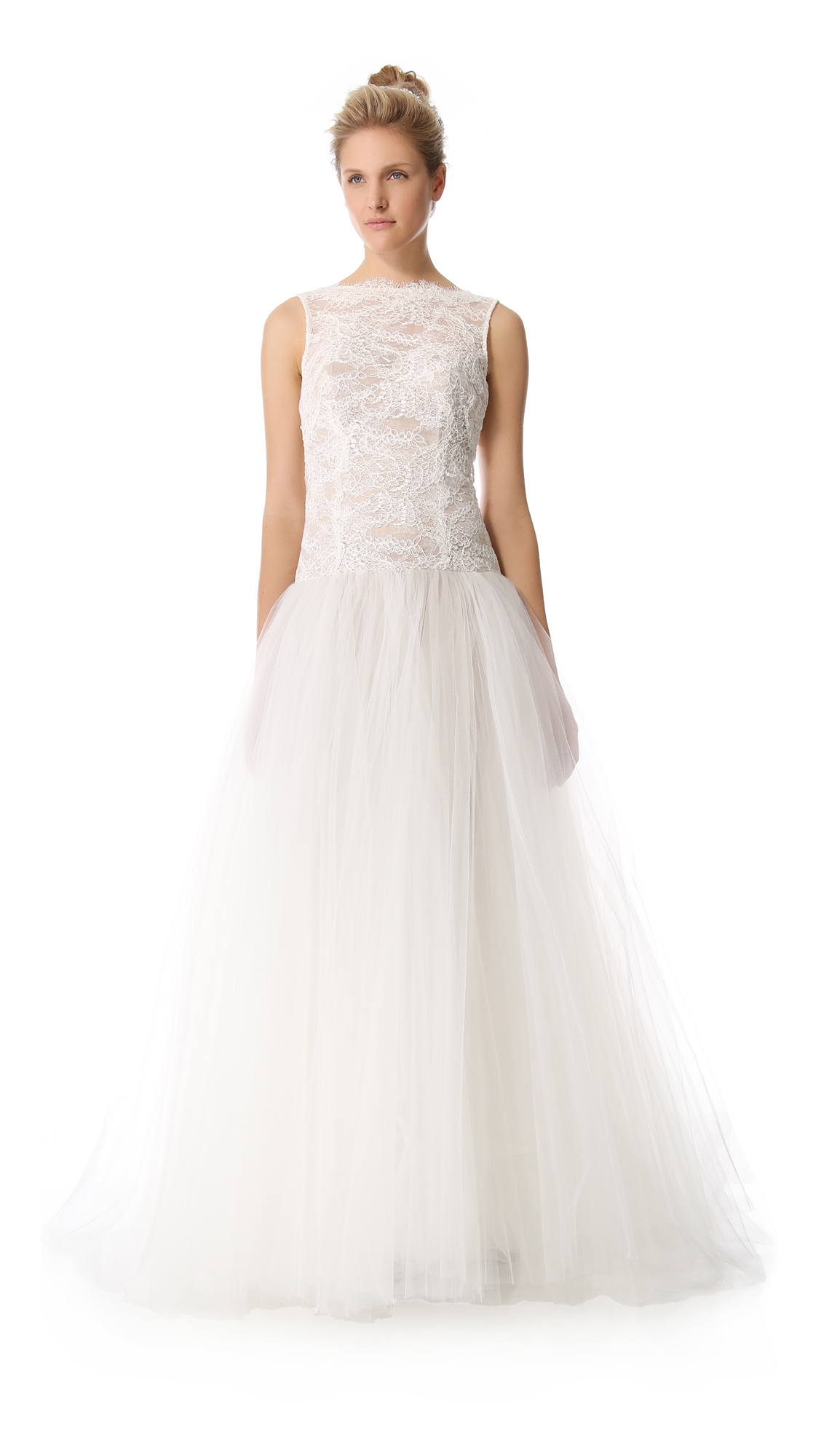 Theia Tulle and Lace Gown ($1,495)