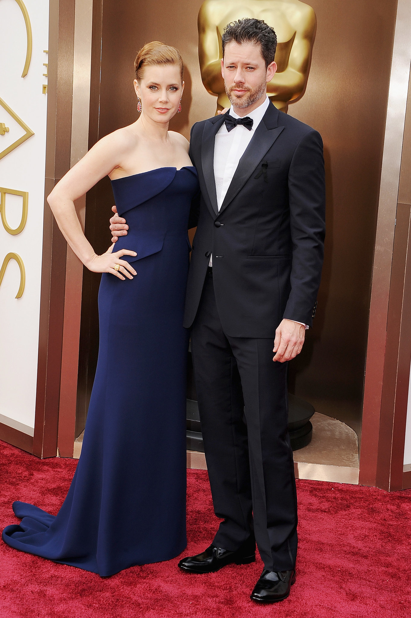 Amy Adams and Darren Le Gallo linked up for red carpet pictures.